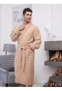 Махровый халат из бамбука Lomond (EFW) (latte)