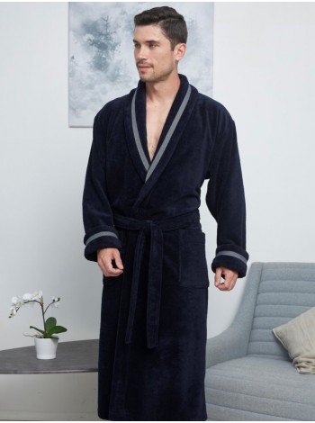 Мужской махровый халат Baron (EFW) (синий)