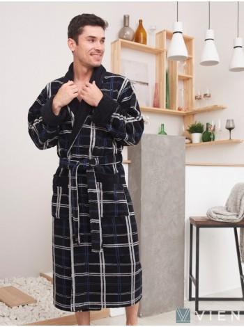Махровый халат из бамбука Stockholm (EFW) (navy)