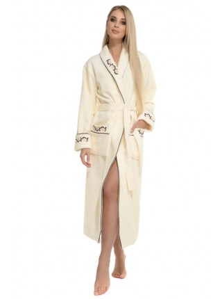 Махровый халат из бамбука Caramélé (PM France 709) (нежно-кремовый)