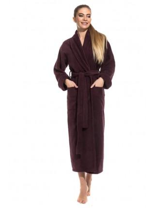 Удлиненный махровый халат Pure Comfort (PM 740) (сливовый)