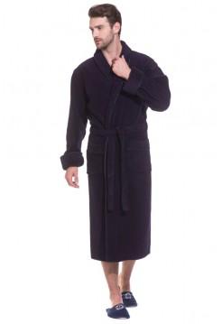 Махровый халат из микро-коттона BRUTAL (PM 920) (чернильный (фиолетово-синий))