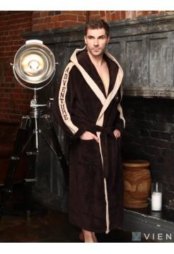 Махровый халат с капюшоном Adventure (EFW) (шоколад)