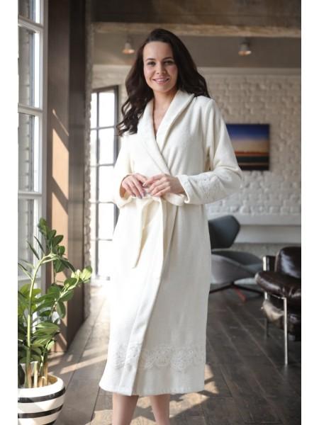 Легкий бамбуковый женский халат Mirabella II (EFW) (крем)
