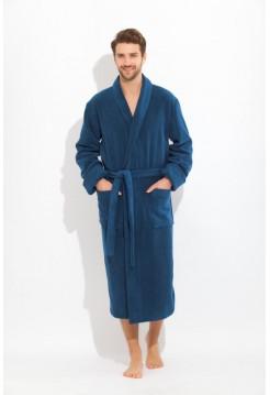 Махровый халат из микро-коттона BRUTAL (PM 920) (Blue marine (синий))