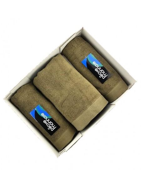 Набор махровых полотенец в подарочной коробке Olympus Gift Box 3 шт. (EVA) (хаки (оливковый) , антрацит)