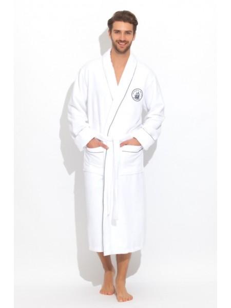 Стильный махровый халат Pirates (PM 915) (белый (blanc))