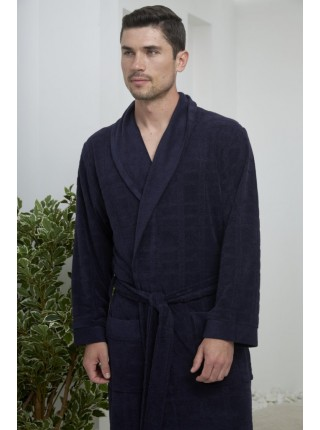Облегченный мужской халат Alan (EFW) (синий)
