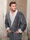 Мужской махровый халат Pegasus (EFW) (серый)