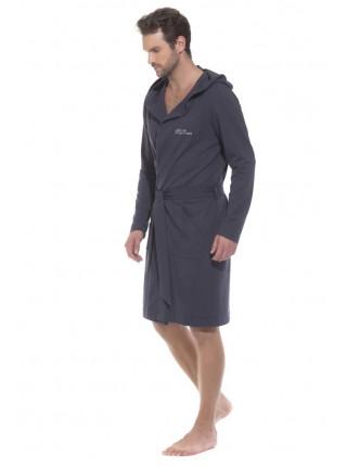 Трикотажный халат с капюшоном Sport's Idol (PM France 410-1) (антрацит)