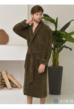 Махровый халат из бамбука Daniel (EFW) (хаки)