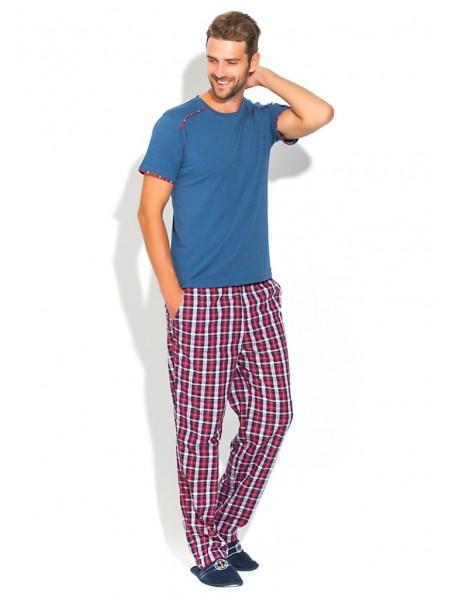 Домашняя пижама BOSS №21 (PM 2193/3) (синий меланж/комбинированный)