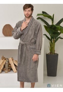 Махровый халат из бамбука Daniel (EFW) (дымчатый)