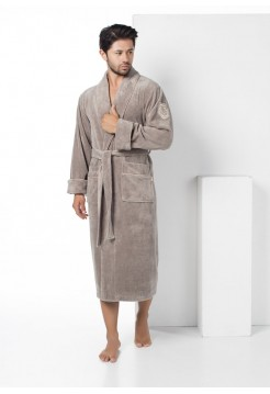 Бамбуковый махровый халат General (E 2885) (бежевый)