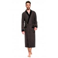 Облегченный махровый халат из бамбука Organique Bamboo (PM France 420) (темно-серый)