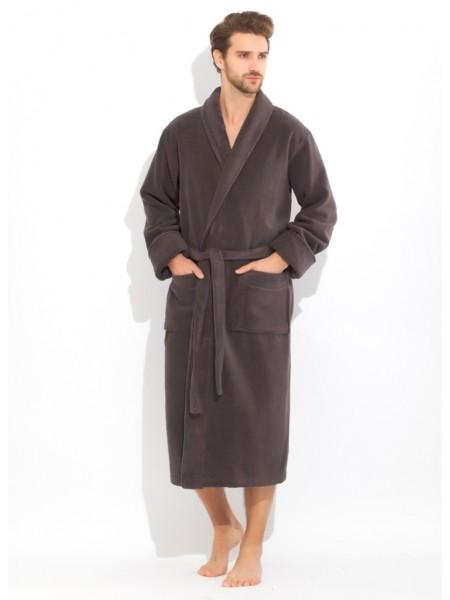 Толстый и плотный махровый халат из микро-коттона (anthracite (тёмно-серый))