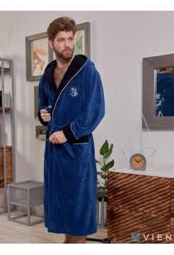Махровый халат из бамбука Wien Club (EFW) (джинс)