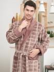 Махровый халат из бамбука Stockholm (EFW) (mokko)