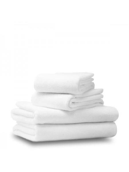 Среднее махровое полотенце для лица и рук. Высокая плотность 480 гр/м2. Цвет белый. 50х70 (EI) (белый)