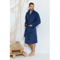 Банный махровый халат Smoky Blue (Е 363/5) (дымчатый синий)
