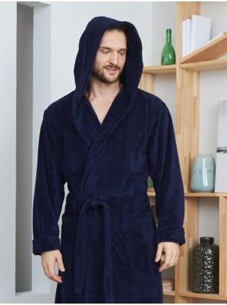 Махровый халат из бамбука Coragio (EFW) (navy)