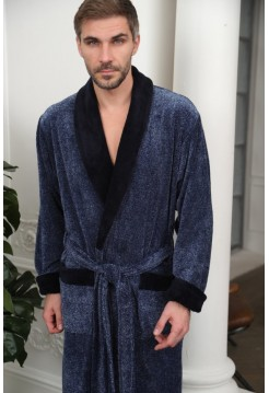 Махровый халат из бамбука Cezar (EFW) (синий)