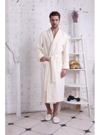 Махровый халат из бамбука NATUREL (PM France 908) (крем (gold cream))