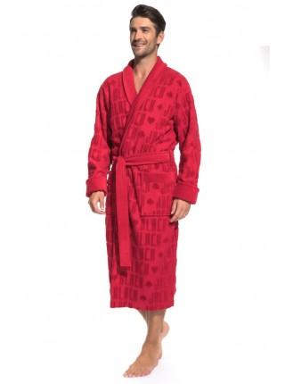 Стильный махровый халат Black Jack (PM France 937) (красный)