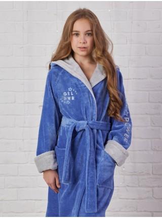 Детский махровый халат Sport Girl (EFW) (фиалка)