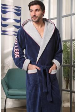 Мужской халат с капюшоном College (EFW) (джинс)