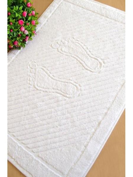 Белое махровое полотенце для ног 50х70 (ET) (белый)