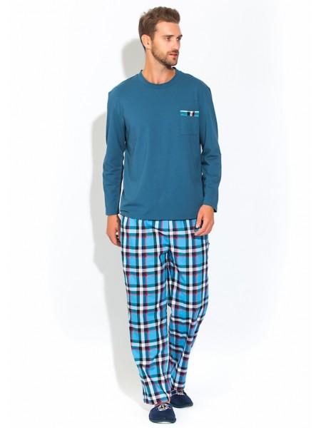 Домашний костюм - пижама BOSS №23 (PM 2135/5) (indigo (синий комбинированный))