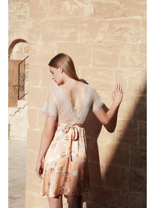 Комплект халат и сорочка Miss Loren (E 1618) (комбинированный)
