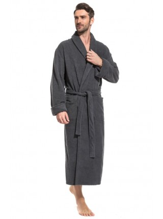 Удлиненный махровый халат Pure Comfort (PM France 940) (темно-серый)