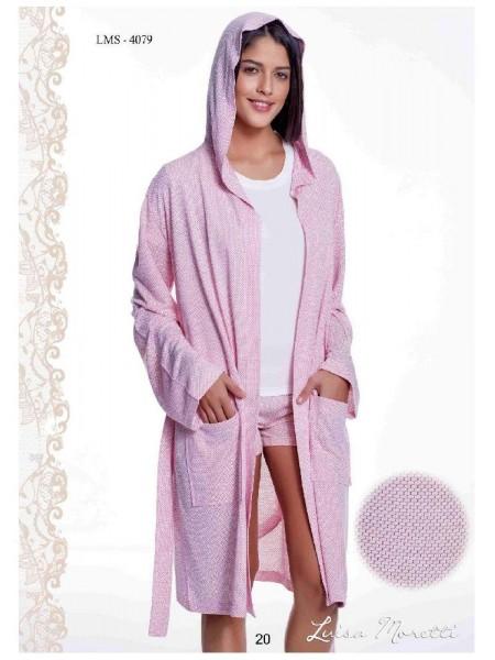 Комплект халат, майка и шорты Luisa Moretti (ESC 4079) (розовый)
