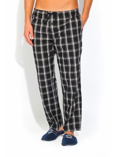 Мужские домашние брюки VIKING №002 (PM UD-208) (черная клетка)