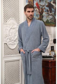 Классический мужской халат Marko (EFW) (индиго)