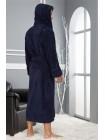 Махровый халат с капюшоном Edgor (EN 2955) (синий)