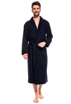 Облегченный махровый халат из бамбука Organique Bamboo (PM France 420) (синий)
