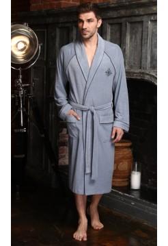 Махровый халат из бамбука Colombo (EFW) (джинс)