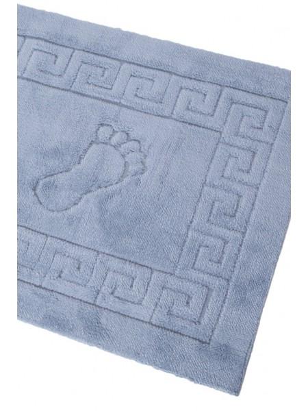 Махровый коврик для ног c прорезиненной основой STEPPY ONE 52x78 (PM France) (серо-голубой)