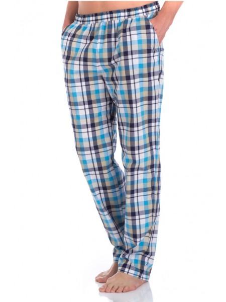 Мужские домашние брюки VIKING № 002 (PM France 2136/6) (голубая клетка)