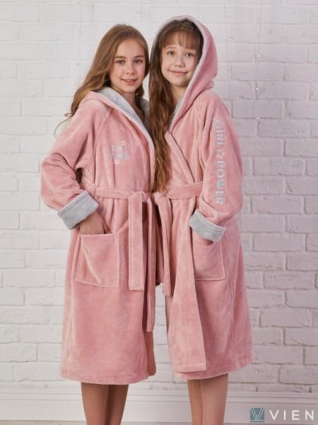 Детский махровый халат Sport Girl (EFW) (пудра)