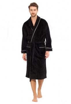 Мужской махровый халат Elegant (PM 1588) (черный)
