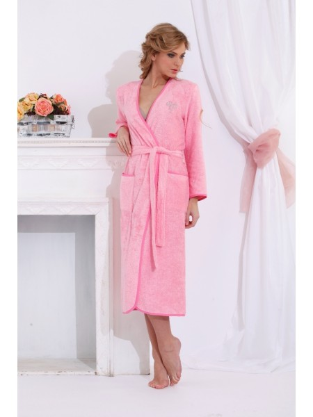 Шикарный бамбуковый халат Shine (PM 722) (нежно-розовый)