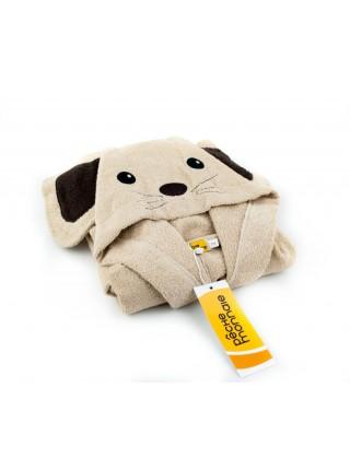 Детский махровый халат Funny Mouse (PECHE MONNAIE France 5) (бежевый)