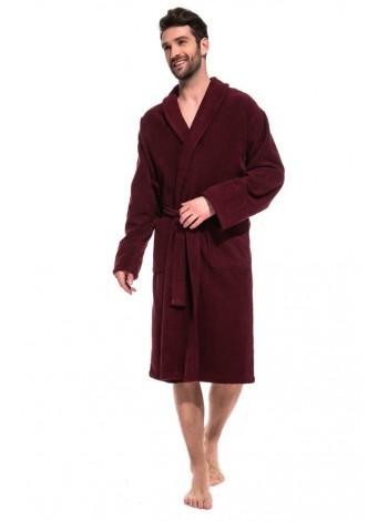 Банный махровый халат Vinous Label (Е 365) (винный)