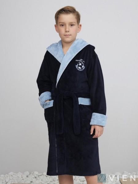 Подростковый бамбуковый халат Ronaldo (EFW) (Navy)
