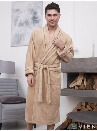 Махровый халат из бамбука Daniel (EFW) (бежевый)