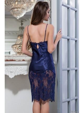Шелковая сорочка Flamenco (EM 2084) (синий)